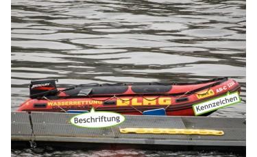 Bootskennzeichen für Schlauchboote