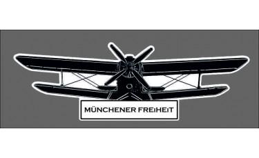 Münchener Freiheit - Fanaufkleber groß weiß