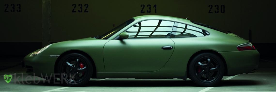 3 M Olive matt Porsche klebWERK